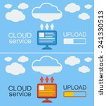 cloud service concept on blue ... | Shutterstock . vector #241330513