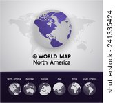 north america world map vector... | Shutterstock .eps vector #241335424
