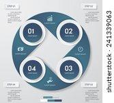 design clean number banners... | Shutterstock .eps vector #241339063