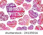 lovely hearts | Shutterstock .eps vector #24135016