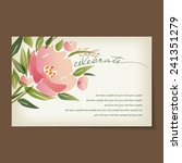 beautiful vintage invitation... | Shutterstock .eps vector #241351279
