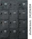 rows of old black lockers   Shutterstock . vector #241356334