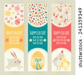 banner templates. happy easter  | Shutterstock .eps vector #241359349