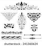 ornament set   set of black... | Shutterstock .eps vector #241360624
