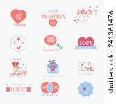 valentine s day set   labels ... | Shutterstock .eps vector #241361476