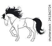 beautiful horse | Shutterstock .eps vector #241362724