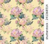summer flower seamless pattern   Shutterstock . vector #241368514