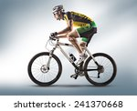 cyclist riding a bicycle... | Shutterstock . vector #241370668