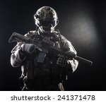 Special Forces Soldier With...