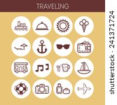 set of simple icons for... | Shutterstock .eps vector #241371724