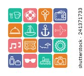 set of simple icons for... | Shutterstock .eps vector #241371733