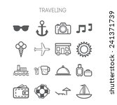 set of simple icons for... | Shutterstock .eps vector #241371739