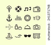 set of simple icons for... | Shutterstock .eps vector #241371748