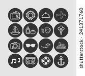set of simple icons for... | Shutterstock .eps vector #241371760