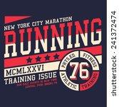 sport running typography  t... | Shutterstock .eps vector #241372474
