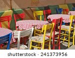 colorful chairs and tables with ... | Shutterstock . vector #241373956
