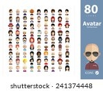 Set Of People Icons In Flat...