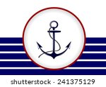 abstract sea background anchor ... | Shutterstock .eps vector #241375129