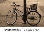 vintage bike on street