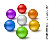 set of colorful glossy balls... | Shutterstock .eps vector #241380454