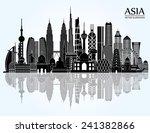 asia skyline detailed... | Shutterstock .eps vector #241382866