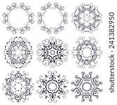 a round ornament set. vector... | Shutterstock .eps vector #241382950