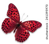 Stock photo beautiful red butterfly isolated on white background 241395970