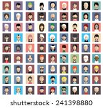 set of people icons in flat... | Shutterstock .eps vector #241398880