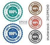 100  guarantee icon  tag  label ... | Shutterstock .eps vector #241399240