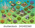 isometric building farm. rural... | Shutterstock .eps vector #241402360