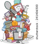 illustration of a huge pile of... | Shutterstock .eps vector #241406500