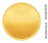 blank template gold coin medal metal stock photo edit now