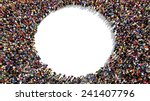 large group of people seen from ... | Shutterstock . vector #241407796