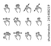 gesture icons set for mobile... | Shutterstock .eps vector #241408219