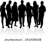 group of people  | Shutterstock .eps vector #241408438