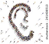 large group of people seen from ... | Shutterstock . vector #241408513