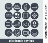 set of simple flat icons with... | Shutterstock .eps vector #241410424