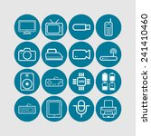 set of simple flat icons with... | Shutterstock .eps vector #241410460