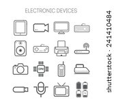 set of simple flat icons with... | Shutterstock .eps vector #241410484