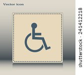 vector icon disabled  | Shutterstock .eps vector #241412218