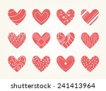 valentine heart vector set  ... | Shutterstock .eps vector #241413964