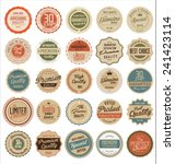 premium quality retro badges | Shutterstock .eps vector #241423114