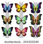 butterfly 2 | Shutterstock .eps vector #241423240