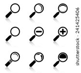 magnifier glass icons with... | Shutterstock .eps vector #241425406