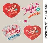 valentines day vintage design.   Shutterstock .eps vector #241431580