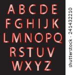 set of red alphabet design... | Shutterstock .eps vector #241432210