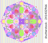 circular of floral motif with... | Shutterstock . vector #241432966