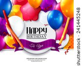 birthday card with colorful... | Shutterstock .eps vector #241445248
