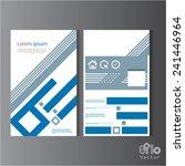 creative brochure design eps10...