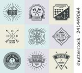 assorted retro design insignias ... | Shutterstock .eps vector #241449064